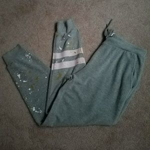 Chaser Sweatpants Splattered Paint Joggers Large